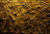 The Pharaoh's Golden Archers (Steve Taylor (Photography)) Tags: pharaoh archer gold men uk gb england greatbritain unitedkingdom london texture britishmuseum clay egyptian palm battle relief bowandarrow quiver