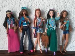 A - Z Challenge - B: Boho Girls 💙 (Lo_zio87_Barbie Collector) Tags: joyce claudette gordon mold miko kristen becky fashionistas fashion male doll collector made move barbie boho 70s hippie