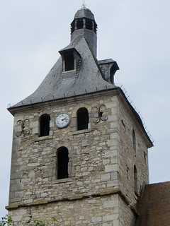 Clocher de l'église St Etienne, Cajarc, Quercy, Lot, Occitanie, France.