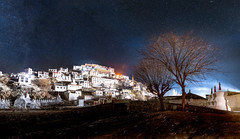 LADAKH THIKSEY MONASTERY (mphasisonme) Tags: monastery night natgeo long exposure panorama tree winter ladakh peace stars