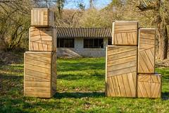 boxed in (stevefge) Tags: lent fort wooden wood art houses buildings trees bomen nederland netherlands nl grass boxes brick geometry reflectyourworld nederlandvandaag