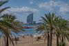 Platjes de la Barceloneta (Francesc Farran) Tags: paisatges playas palmeras barcelona barceloneta playa agua mar árbol cielo