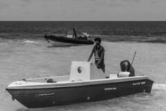 Taxi (Boat) Driver (Miguel Ángel Prieto) Tags: vashugiri island maldivas maldives scupaspa yang resort life board bw bn blanco y negro black white