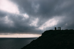 (thekevinchang) Tags: templeofposeidon capesounion greece cape ruins poseidon temple sea birds rain sunset shadows