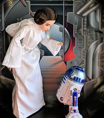 Aren't you a little short for a astromech droid (Pablo Pacheco 85) Tags: leia carriefisher starwars anewhope r2d2 hasbro starwarsforcesofdestiny