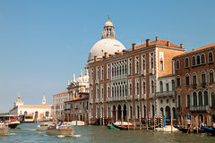 Grand Canal (theseBoetz) Tags: building monuments water italy italia boats dome canals venezia unesco grandcanal palace arches architecture buildings blue medieval venice sky