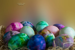 Colors of Easter (mariola aga) Tags: easter basket eggs dyedeggs decoration macro closeup pastel colors art coth thegalaxy coth5