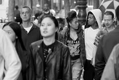 Young Hearts (TheseusPhoto) Tags: people blancoynegro blackandwhite monochrome noir streetphotography street city citylife candid sanfrancisco marketstreet couple