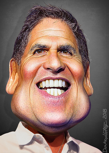 Mark Cuban - Caricature