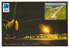 CGB01 (By Air, Land and Sea) Tags: airport postcard cgb cuiaba brazil aircraft airplane