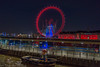 London Eye at night (paullee66416) Tags: countyhall jetty waves handheld thames river wheel boat tug tyre crane millennium bridge