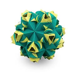 Eurydice (masha_losk) Tags: kusudama кусудама origamiwork origamiart foliage origami paper paperfolding modularorigami unitorigami модульноеоригами оригами бумага folded symmetry design handmade art