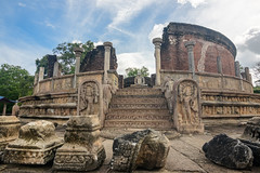 Ruins (good.fisherman) Tags: landmark tribute sightseeing historical sightseer tourist destination visiting sri lanka temple ancient archaeological site statue buddhims buddha ruins