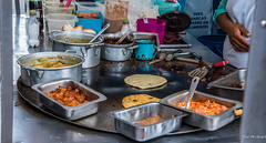 2018 - Mexico City - Street Food (Ted's photos - Returns Early June) Tags: 2018 cdmx cityofmexico cropped mexicocity nikon nikond750 nikonfx tedmcgrath tedsphotos tedsphotosmexico vignetting flipper pans food streetfood foodvendor pots spoon griddle cup mug containers potsandpans potspans tongs knife tortilla tortillas