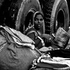 Surprised (magiceye) Tags: surprise street streetportrait streetphoto fleamarket mumbai india monochrome blackandwhite bnw