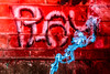 Playing with gels and smoke ... (Hilde Carmans) Tags: yn568ex speedlite photography amateur sigma nikond5500 nikon blue red graffiti speedlight incense fume smoke gels assignment