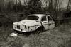 Volvo (SONICGREGU) Tags: rockwood blackwhite canada ontario mcleansautowreckers nikon wreck car volvo