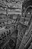 Vértigo (Aránzazu Vel) Tags: palazzocontarini venezia venice venecia cityscape city ciudad panorama view vista blancoynegro blackandwhite biancoenero monocromo cielo nubes clouds sky architecture arquitectura architettura torre tower scalaelicoidale scale
