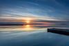 Marine Lake Sunset mk2 (gmorriswk) Tags: seascape cloudscape waterscape landscape sky firecrest longexposure reflections reflection sunset westkirby england unitedkingdom gb