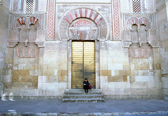Cordoba Mosque - Cathedral (Past Our Means) Tags: kodak kodakfilm kodakgold200 200 gold spain travel canon ae1 analog analogue analouge adventures sunmmer 2017 mosque cathedral historical history religious wanderlust door art 28mm 35mm film filmisnotdead filmphotography summer europe city beautiful architecture cordoba streetphotography people portrait