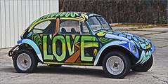 Love Bug (Runemaker) Tags: lovebug vw volkswagen hippieemporium oldtown cottonwood arizona hippie car automobile 1960s counterculture