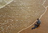 catching the wave (lowooley.) Tags: hastings sussex southeastengland beach sea ripple photographer shadow reflection
