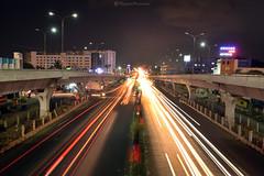 Chennai Pallavaram Flyover (Raghav Prasanna) Tags: pallavaramflyover longexposure lighttrails pallavaram chennai mycitychennai mychennai nightphotographychennai