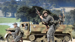 Cautious Approach (WesternOutlaw) Tags: wehrmacht 130 130scale toysoldiers kingcountry kingandcountry opel maultier opelmaultier normandy panzergrenadier