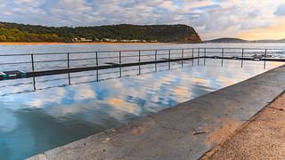 Sunrise Seascape and Sea Pool