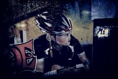 Ride on. (Chris Hamilton Photography) Tags: devon street urban ride cycle bike nikon exeter juxtaposition cycling artwork graffiti art