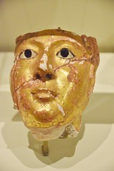 Mummy Mask of a Woman, Romans in Egypt, Royal Ontario Museum, Toronto, ON (Snuffy) Tags: mummymaskofawoman romansinegypt royalontariomuseum rom toronto ontario canada