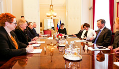 AM Karin Kneissl trifft den slowenischen Präsidenten, Borut Pahor