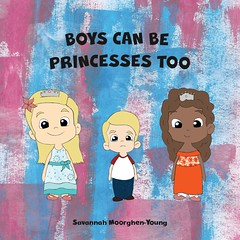 Children's Book | Front Cover (Savannah Katarina Design) Tags: graphic design course ba uni university project childrens book children moral message boys can be princesses too illustration paint painting designer style character characters