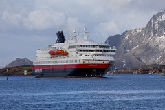 Ms Nordkapp (G E Nilsen) Tags: nordkapp norway nordnorge northernnorway norwegiancoast hurtigruten sea mountain port harbour ship building