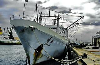 Shanghai, MS Chang Bai, a soul vendor ship
