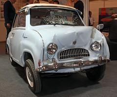 Sad Goggo (Schwanzus_Longus) Tags: techno classica essen german germany old classic vintage car vehicle micro compact glas goggomobil t250 sad crash damage accident