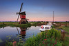 20170709-Canon EOS 6D-8359 (Bartek Rozanski) Tags: hoogmade zuidholland netherlands greenheart groenehart holland windmill wipmolen red boat summer morning sunrise reflection water sunset
