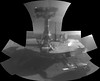 Portrait of Opportunity (sjrankin) Tags: 25march2018 edited nasa primage pia22222 grayscale panorama mosaic opportunity mars endeavourcrater