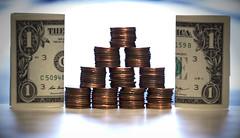 #FlickrFriday #100percent (donna_newcomer) Tags: money coins pennies flickrfriday