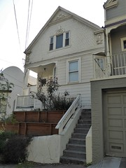 San Francisco, Noe Valley, Owner's House in Front of My Son's Rental House (Mary Warren 13.5+ Million Views) Tags: sanfranciscoca noevalley architecture building residence house stairs victorian