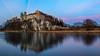 Tyniec Abbey (Paweł Gałka) Tags: tyniec kraków sunset landscape małopolska river water long exposure wisła sky cracow poland contrast down blue