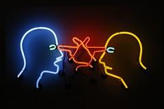 Double poke in the eye.... (markwilkins64) Tags: tatemodern london neon neonart art modernart neonlight colours abstract sign brucenauman