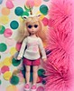 The Unicorn of Susies (Lawdeda ❤) Tags: blonde susie sadeyes doll vintage unicorn love pink confetti sunday funday picmonkey