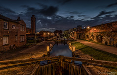The old and the new. (peterwilson71) Tags: canal lock industrial arcitecture abandoned boats clouds canon6d cascade dark downtown exposure evening reflections beautiful flow houses industry light night sky longexposure lights landscape old outdoors stone travel water waterfall
