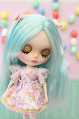 Precious - for adoption (Kitty van de Waart) Tags: blythe blythedoll blythedollforsale blythecustom blythecustomdoll blytheforadoption blytheoutfit bigeyes blythoutfit customblythe cute customizeblythedoll c customdoll customblythedoll customized custom customizedblythedoll blue hair pastel pastelblythe pasteldoll doll unicorn pink unicorns sweet girl spring goth easter eyes hand handmade ooak dolls dollphotography dolly