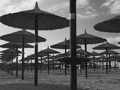 Umbrella 29 (senza senso) Tags: greece macedonia blackandwhite beach umbrellas 29 macedoniagreece makedonia timeless macedonian macédoine mazedonien μακεδονια македонија