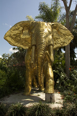 Golden Elephant (ucumari photography) Tags: ucumariphotography zoo miami fl florida march 2018 gold elephant goldenelephant statue dsc3755