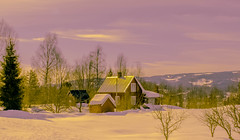 Happy Easter Weekend to you all (evakongshavn) Tags: happyeaster easter winter winterwonderland winterlandscape landscape paysage hiver hivernal snow building house purple glow golden gold light sky clouds evavision 7dwf easter2018 happyeaster2018 goodfriday ostern froheostern påske landschaft outside outdoors