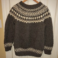 Icelandic Lopi wool sweater (Mytwist) Tags: am972 usa fair isle nordic hand knit wool brown sweater ullar unisex excellent texas ullarpeysa craft lopapeysa lopi iceland icelandicsweater classic viking design vouge bulky style jumper timeless traditional laine heritage original handknitted knitting love passion gift