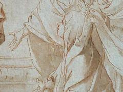 RENI Guido - La Visitation de la Vierge (drawing, dessin, disegno-Louvre INV8898) - Detail 23 (L'art au présent) Tags: art painter peintre details détail détails detalles drawings dessins disegni 17th 17e dessins17e 17thcenturydrawings 17thcentury tableaux paintings louvre france paris museum rome bollogne italie italia italy leguide portrait people woman women jeunefemme youngwoman figure madonna croquis étude study studies sketch sketches wash lavis virgin vierge mary marie elisabeth saints saint bible man men homme